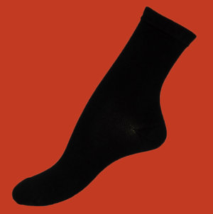 Black bambu sock