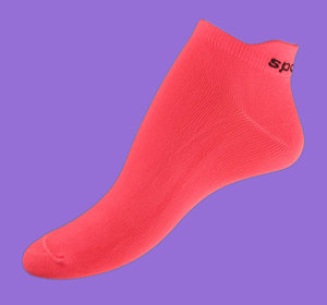 Light red microfiber ankelsocks