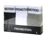 Herrboxer 3-pack, svart, vit, grå