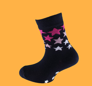 Dark blue stars non slip sock