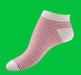 Red stripes ankel sock