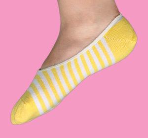 Yellow stripes ballerina sock