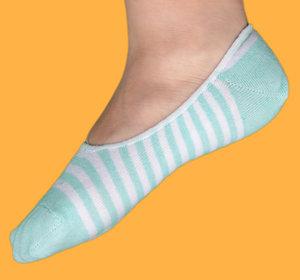 Blue stripes ballerina sock