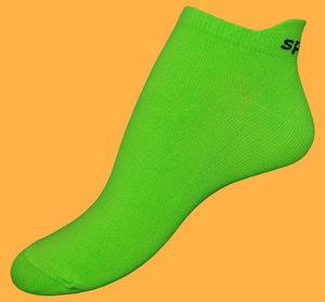 Neon green microfiber ankelsocks