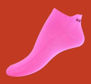 Pink microfiber ankelsock
